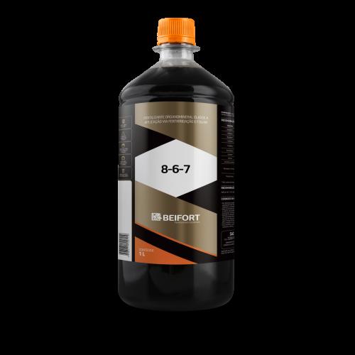 Fertilizante Organomineral Classe A (NPK)8-6-7 - 1L