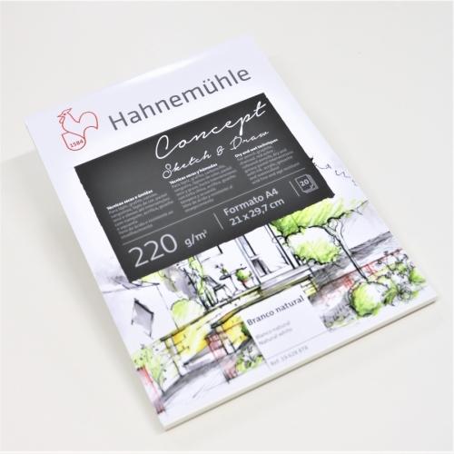Bloco de Desenho Concept Sketch & Draw, 220g/m²,  A4, Com 20 Folhas Hahnemühle