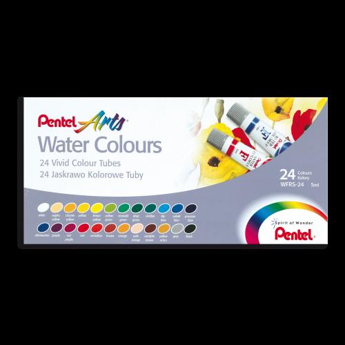 Estojo Aquarela Arts, 24 cores, Bisnagas 5ml - Pentel